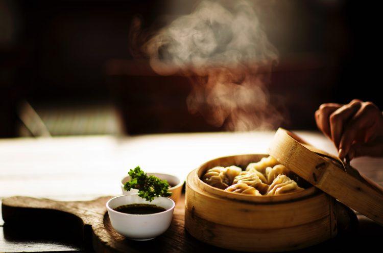 plat dans un restaurant asiatique